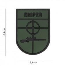 Nášivka SNIPER 3D oliv (velcro)