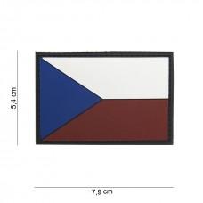 Nášivka vlajka ČR 3D velká (velcro)