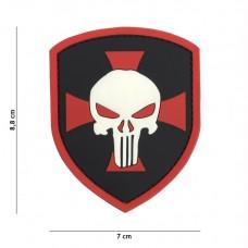 Nášivka PUNISHER RED CROSS 3D (velcro)