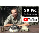 50 Kč - Podpora YouTube tvorby Daga