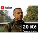 20 Kč - Podpora YouTube tvorby Daga