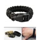 Žoldácký / PARA náramek 15mm BLACK (Paracord Bracelet)