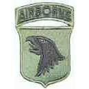 Nášivka Airborne - bojová (zelenočerná)