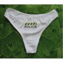 Kalhotky/Tanga POLICIE bílé