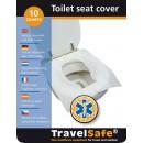 TravelSafe pokrývky WC sedátka - sada 10ks