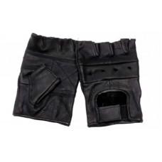 Kožené bezprsté rukavice (army, posilování, ochrana)